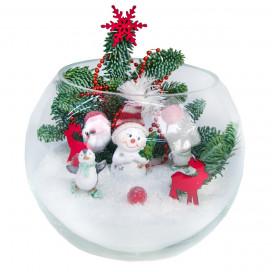Новогодняя композиция «Снежный шар»