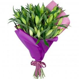Букет цветов из 15 лилий