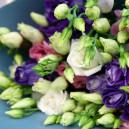 Букет цветов из 15 эустом микс в упаковке
