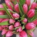 Букет цветов из 35 розовых тюльпанов