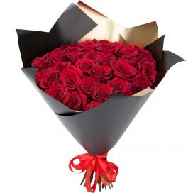 Букет из 35 красных роз 40-50 (Эквадор) см в упаковке