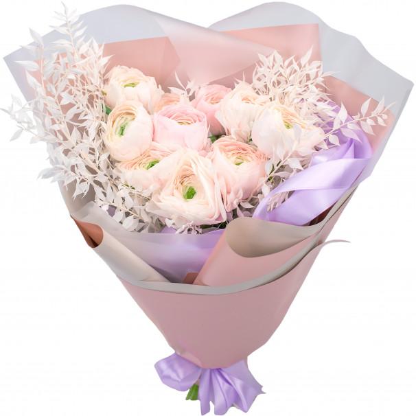 Букет цветов из ранункулюсов