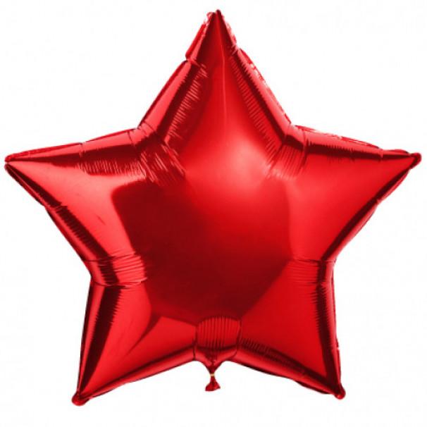 Шар Звезда красная 45 см