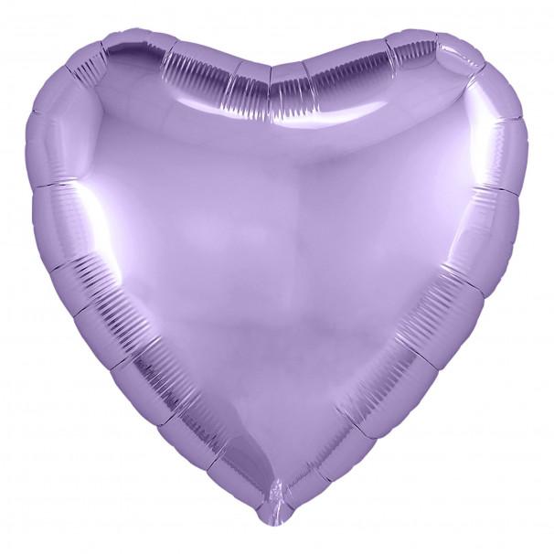 Шар Сердце Металлик Lilac 45 см