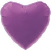 Шар Сердце Металлик Purple, 45 см