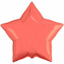 Шар Звезда коралловая 45 см