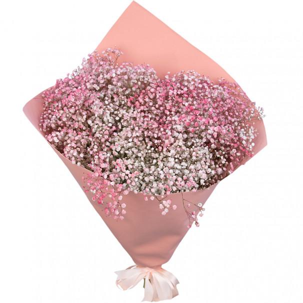 Букет цветов из 15 розовых гипсофил