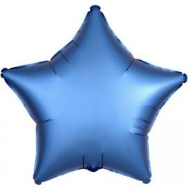 Шар Звезда синяя 45 см