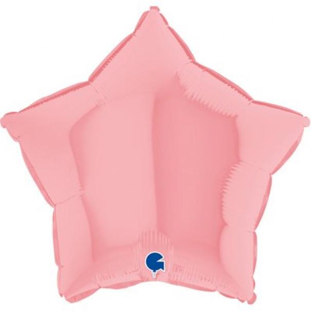 Шар Звезда Пастель Matte Pink, 45 см