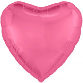 Шар СЕРДЦЕ Металлик Pink Peony, 45 см