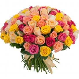 101 российская роза микс 40 см