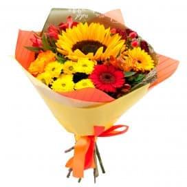 Школьный букет цветов