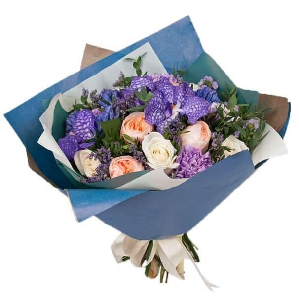 Букет цветов Синий иней