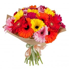 Букет цветов Микс из 25 гербер