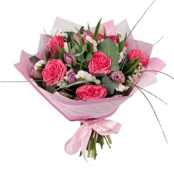 Букет цветов Розовые грезы