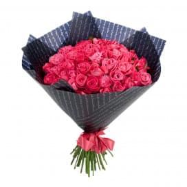 51 розовая роза (Россия)