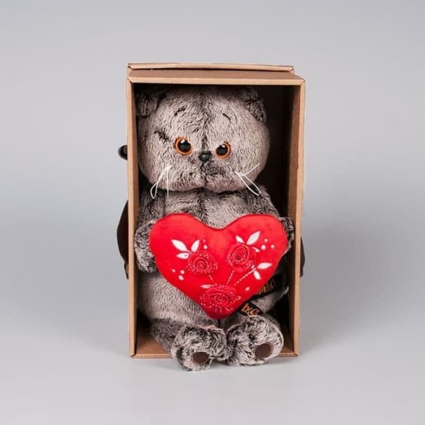 Игрушка Басик с сердцем, 22см
