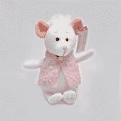 Мышка Зефирка 15см
