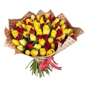 Букет из 101 Кенийской розы крафт