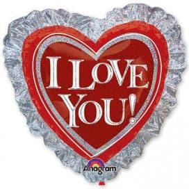 Шар Сердце на серебре