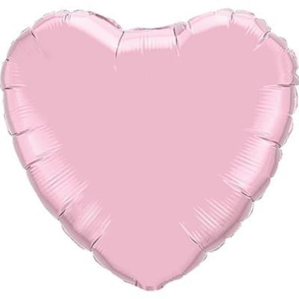 Шар  Сердце Пастель Pearl Pink 45см
