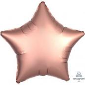 Шар Звезда Сатин Rose Copper 45см