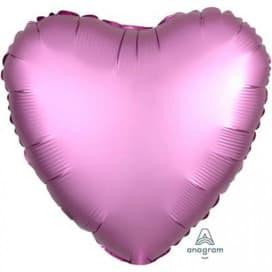 Шар Сердце Сатин Flamingo 45см