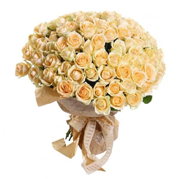 Букет из 101 белой розы №195