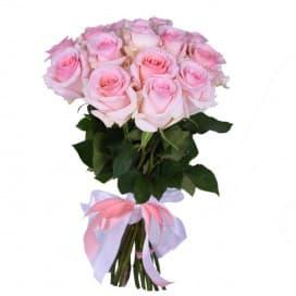 Букет 15 нежно-розовых роз №140