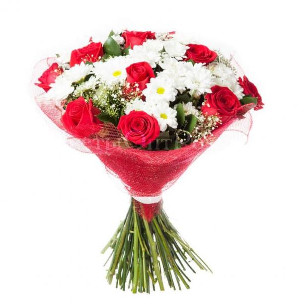 Букет цветов №39 из хризантем