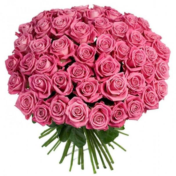Букет №95 из 75 розовых роз