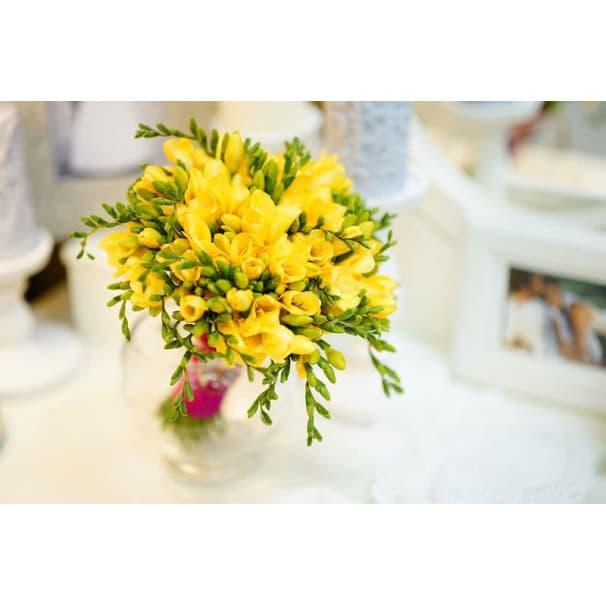 Желтый свадебный букет СВ138