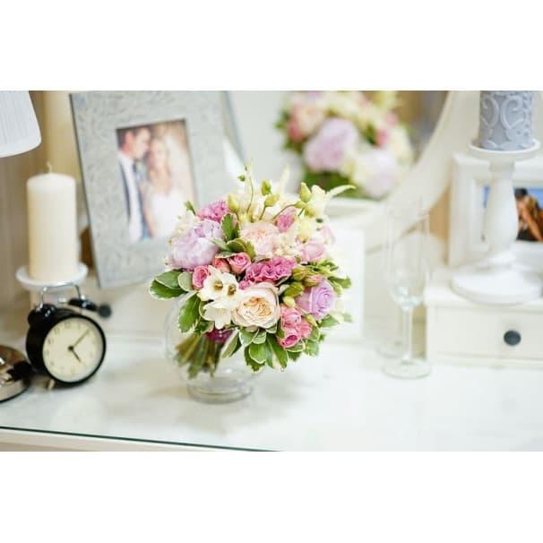 Свадебный букет СВ139 в стиле прованс из роз