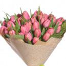 Букет из 45 розовых тюльпанов